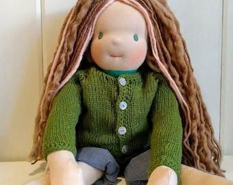 Web-inspired doll pedagogy Waldorf 55 cm