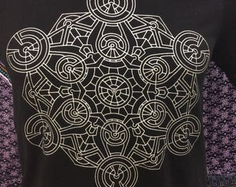 Metatrons Generator T-Shirt ~ Sacred Geometry Clothing - Alchemy - Stars - Fair Trade - shirt