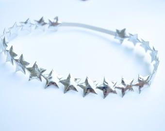 Silver Metallic Star Halo, Silver Star Headband, Silver Star Halo, Star Halo, Star Headband, Baby Headband, Halo, Baby Halo, Toddler Halo