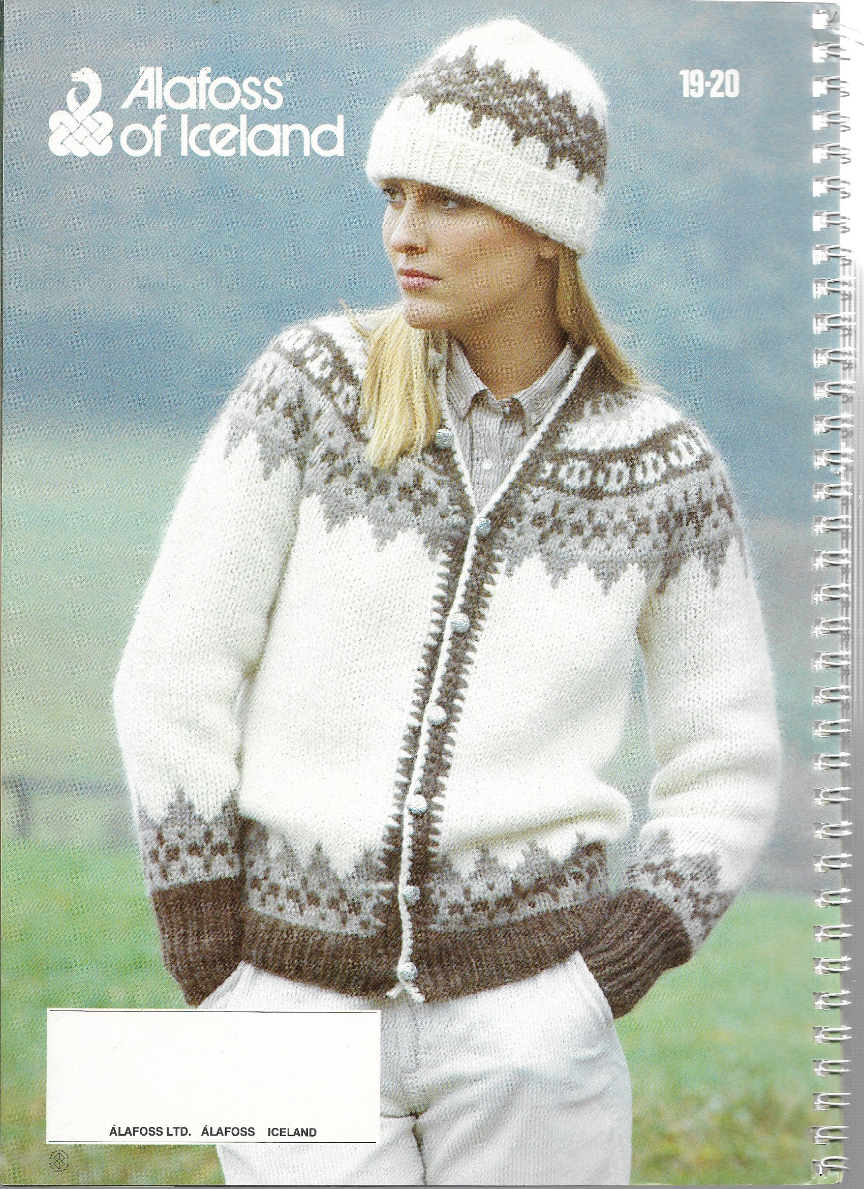 1982 - ALAFOSS LOPI KNITTING Patterns - Spiral Bound Iceland Knits ...