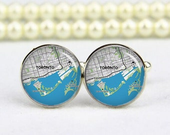 Toronto Cufflinks, Toronto map cufflinks, custom any city map, photo, personalized cufflinks, custom wedding cufflinks, groom cufflinks