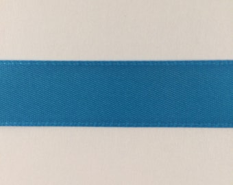 5/8 inch Turquoise Double Face Satin Ribbon