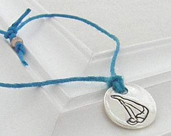Dive Bracelet - Hand Stamped Silver Wish Bracelet on Etsy