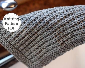 Knit Dishcloth Pattern, Dishcloth Pattern, Knitting Pattern, Dishtowel Pattern, Off the Grid
