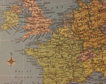 Western Europe Map Digital Download