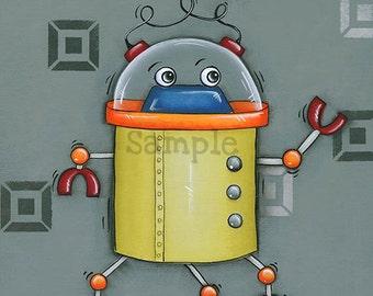 Robot Wall Art ~ Robot Decor ~ Boys Room Decor ~ Wall Art Print ~ Boys Nursery Wall Art ~ Robot Art Print ~ geek ~ Print ~ robot