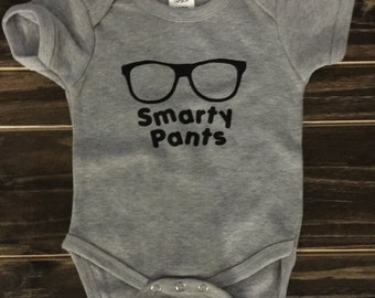 Smarty Pants Onesie, hipster baby, personalized gift