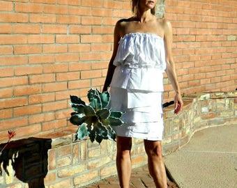 Bridal Skirt-Wedding Skirt-Bridal Separates-Wedding Dress-Maternity Hand Layered Femme Couture Ruffled Linen Skirt-Modern Pregnant Bride