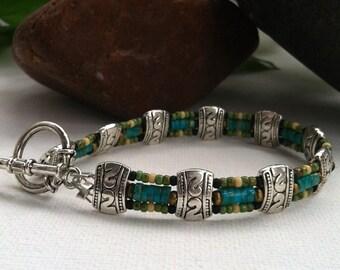Mens Turquoise bracelet, Mens bracelet, genuine turquoise, real turquoise, southwestern jewelry, southwestern style, boyfriend gift