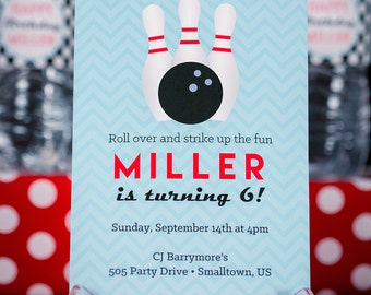 Bowling Invitation - INSTANT DOWNLOAD Bowling by Printable Studio