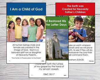 2018 Primary POSTERS (color) LDS - I Am a Child of God