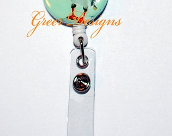 SALE!!!  Atlantic ANTARTIC Bird Puffin Designer Gift Retractable ID Badge Holder Reel Clip