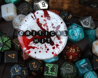 Dungeons and Dragons Critical Hit Jumbo Pin RPG Gamer Brooch