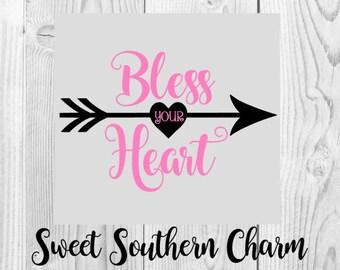Bless your heart svg - valentines svg - valentine svg - valentines day svg - heart svg - arrow svg - cute svg - valentines day svg files