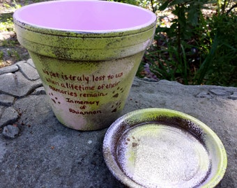 Pet Sympathy Gifts - Pet Memorial Gifts - Painted Flower Pots - Dog Memorial - Cat Memorial - Pet Memorial Planter