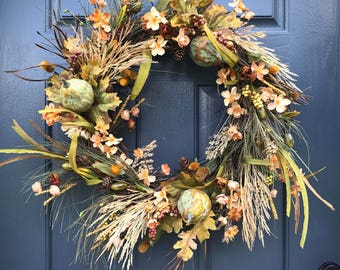 Fall Wreaths, Fall Door Wreath, Front Door Wreaths for Fall, Fall Decor, Thanksgiving Wreath, Fall Decor, Front Door Decor, Fall Door