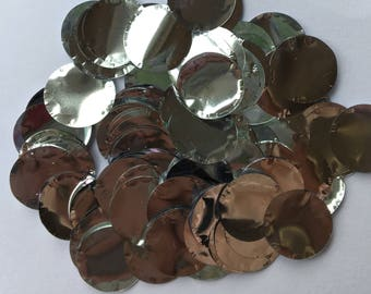 100g Silver confetti for wedding / party / celebration