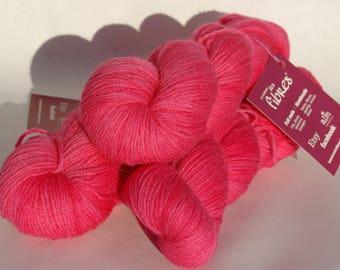Merino/Alpaca suri (50/50) - dyed - pink-100 g