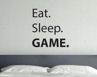 Gaming Room Decor, Kids Room Decorating Ideas. Eat. Sleep. GAME.