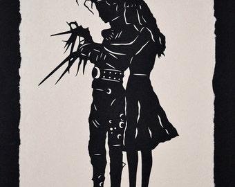 EDWARD SCISSORHANDS Papercut - Hand-Cut Silhouette