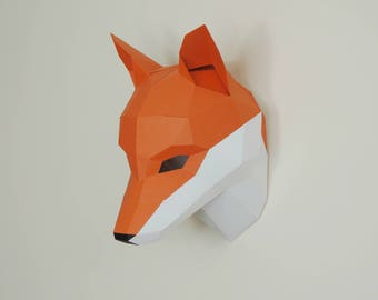 Fox Trophy Mask - build your own wall mountable trophy mask