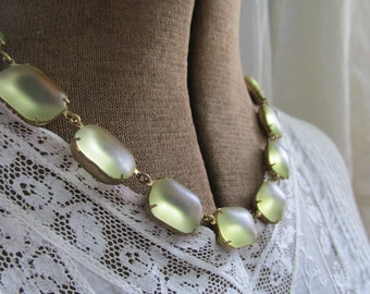 """Tumbled Sun~ light yellow statement necklace,  Anna Wintour collet necklace, sea glass necklace. """"Tumbled Sun"""""""