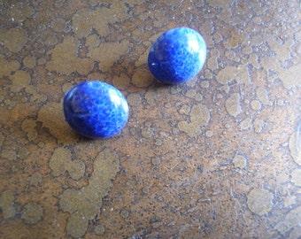 Cobalt Vintage Cabochons Stud earrings