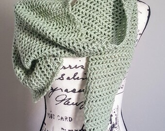Spring Time Wrap, Triangle Scarf, Crochet Scarf, Scarf, Spring Time Accessory