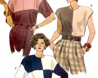 Vogue 8174 Sewing Pattern for Misses' Top - Uncut - Size 8, 10, 12