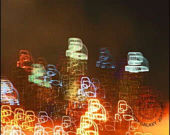 L.A. Skyline from the 4th St. Bridge: Hindsight is Not 20/20, 2015, Digital Print on Aluminum