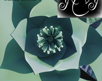 Jumbo Flower Template
