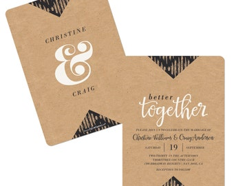 Better Together - Party Invitations - Custom Wedding Party Supplies - Set of 12