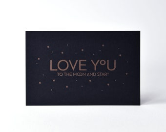 Love you - Letterpress card