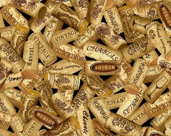 Wine Names on Corks-Timeless Treasures-BTY