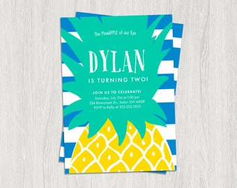 Pineapple Birthday Invitation, Party Like a Pineapple Invitation, Pineapple Invitation, Pineapple Birthday Party, DIGITAL, Tropical Party