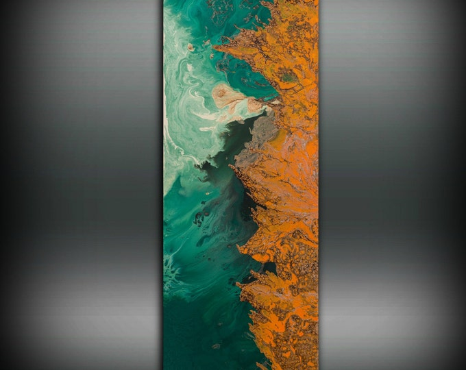 SALE Orange and Green Painting Acrylic Painting Fine Art Print Abstract Painting Contemporary Wall Art Abstract Painting Large Wall Art