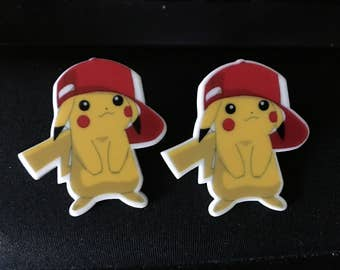 Pikachu Pokemon Stud Earrings   Q3