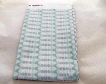 One Yard of Fabric - Mint & Grey Dot Matrix