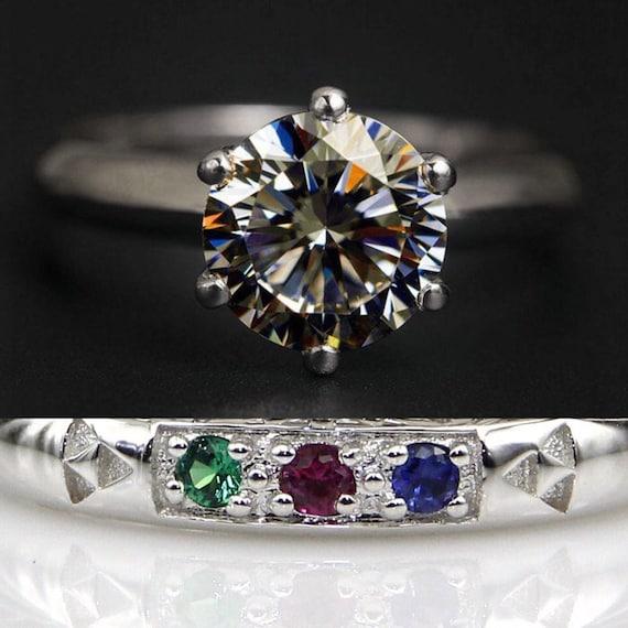Spiritual Stones Wedding Band Promise Ring Engagement Ring 2