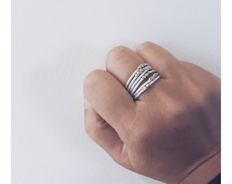 The Sterling Silver 'Dotty' Stacking Ring