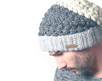 Crochet Hat Pattern Slouchy Beanie Greystoke Hat - PDF pattern + VIDEO Tutorial