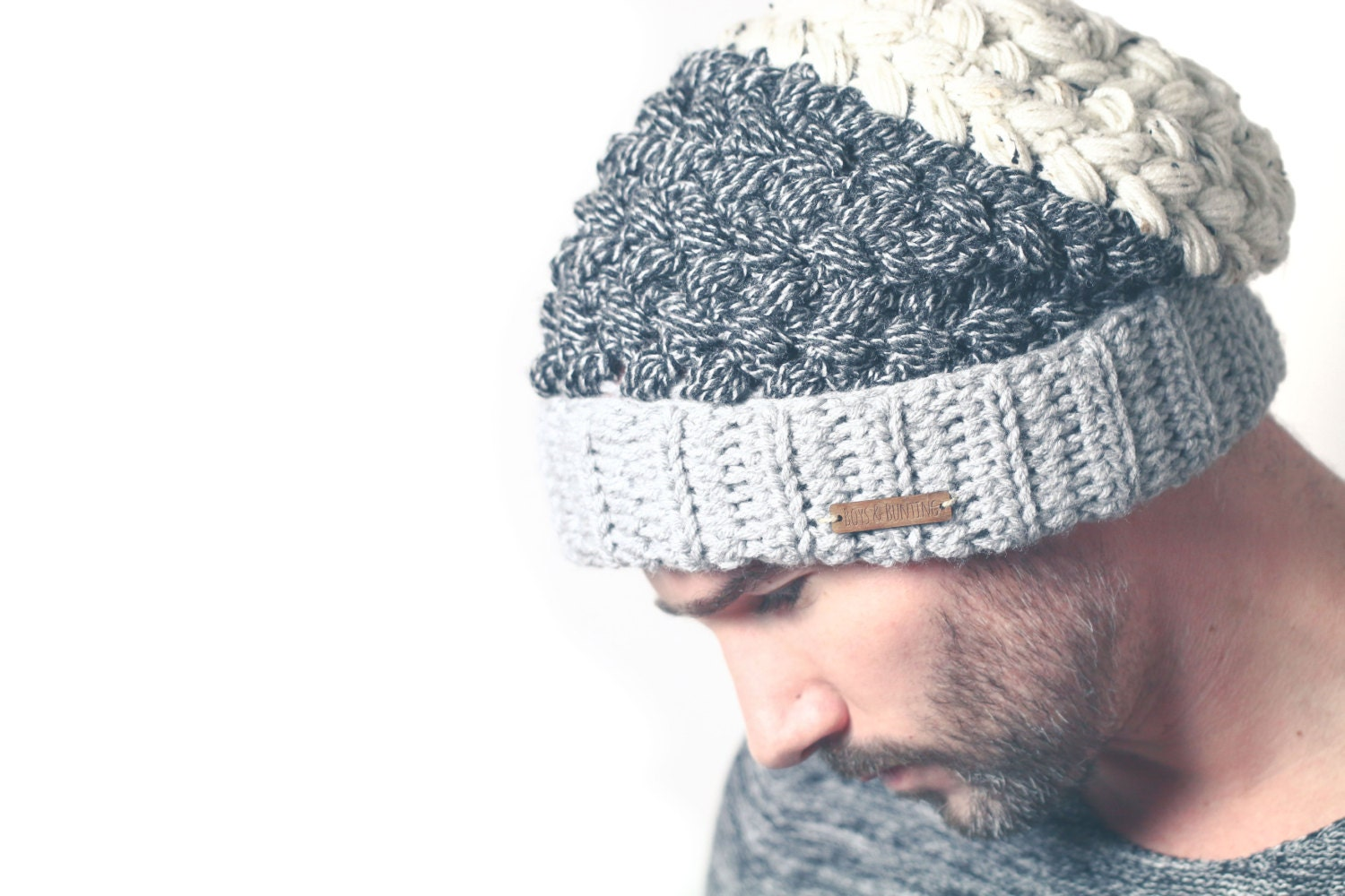 Crochet hat pattern slouchy beanie greystoke hat pdf pattern zoom baditri Image collections