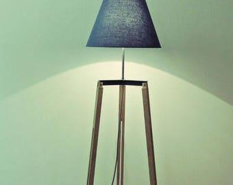 Oak Tripod Lamp