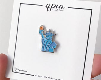 Statue of Liberty Enamel Pin - Statue of Liberty Brooch