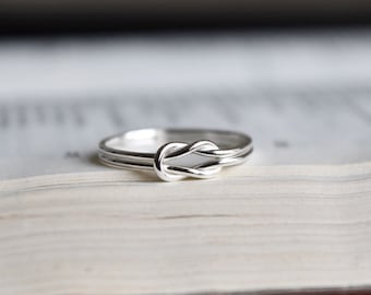 Silver Knot Ring. Lovers Knot Ring. Silver Love Knot Ring. Sailor Knot Ring. Reef Knot Ring. Sterling Silver Knot Ring. Infinity Knot Ring.
