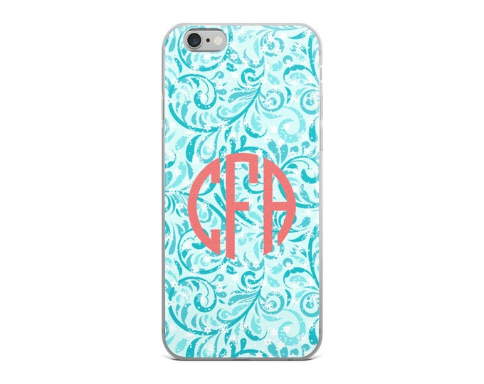 Monogram iPhone Case, Custom iPhone Case, iPhone 6 case, iPhone 6s Case, iPhone 6sPlus Case, iPhone 6Plus Case, iPhone 7/8 case, iPhone X