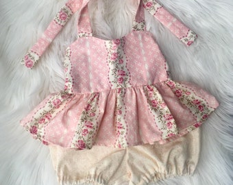 Spring outfit/baby halter top and shorts/toddler halter top and shorts