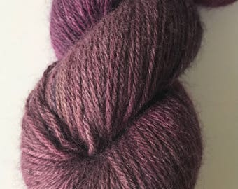 "Purple ""Mink"" Yarn - Lotus Yarns Mimi Hand Dyed  - Lace Weight Yarn"