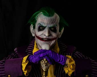 Joker Mask variation of the Madman silicone mask by Slabworx. Made per order only 8-10 week turn around