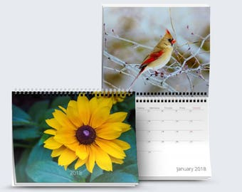 2018 Mini Calendar Nature Calendar Office Calendar 2018 Wall Calendar Monthly Calendar Nature Portraits 12 Month Calendar 2018 Calendar Gift